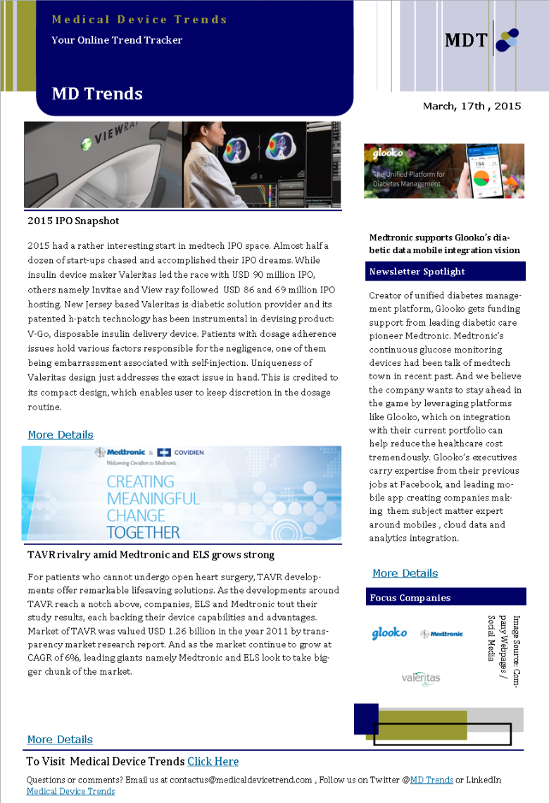 Medical Device Trends News Letter 14