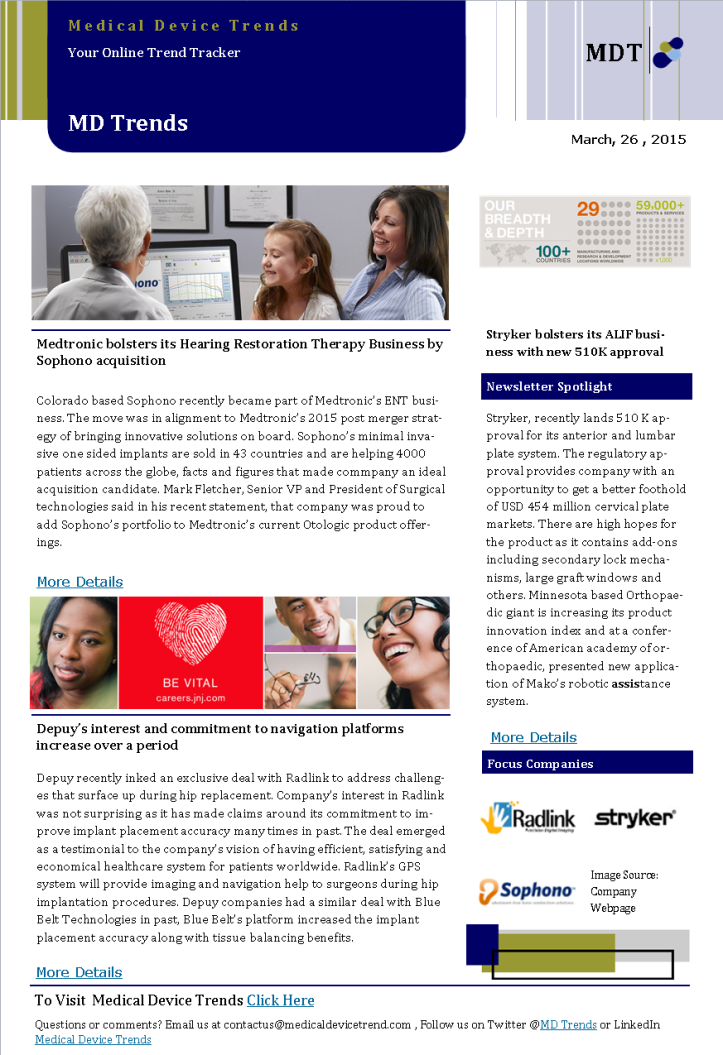 Medical Device Trends News Letter (Daily Dossier)-26
